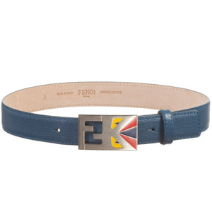 Fendi Boys 'Monster' Blue Belt Accessories Fendi [Petit_New_York]