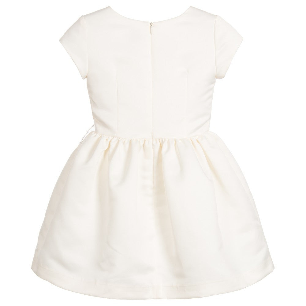 Junior Gaultier Girls Ivory Sateen Dress Girls Dresses Junior Gaultier [Petit_New_York]