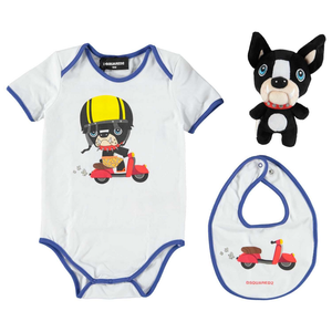 Dsquared2 Baby Doggy Romper & Toy Gift Set Baby Rompers & Onesies Dsquared2 [Petit_New_York]
