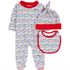 Fendi Baby Romper, Hat and Bib Gift Set Baby Rompers & Onesies Fendi [Petit_New_York]
