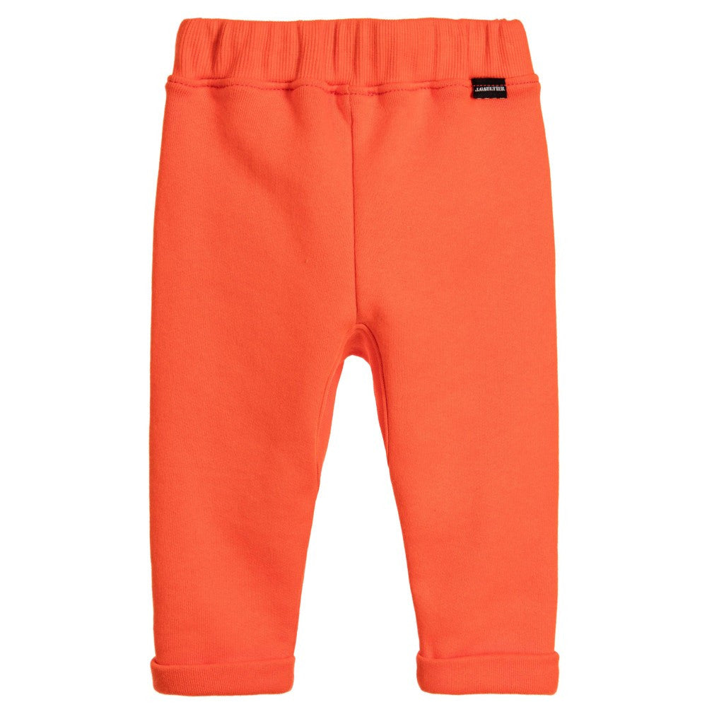Junior Gaultier Baby Orange Sweatpants Baby Bottoms Junior Gaultier [Petit_New_York]
