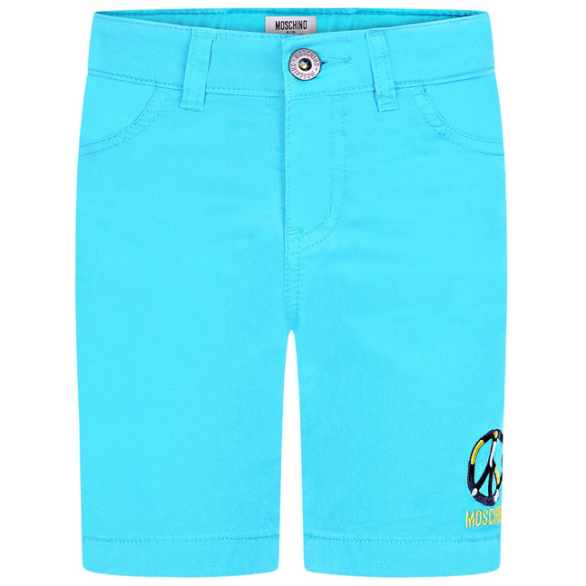 Moschino Boys Turquoise Bermuda Shorts Boys Shorts Moschino [Petit_New_York]