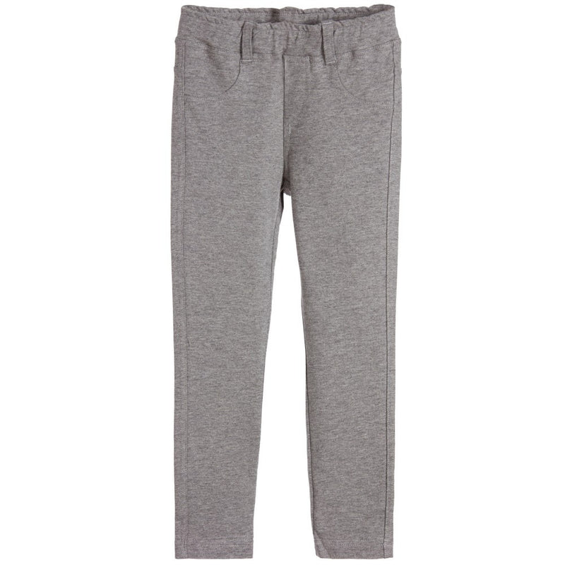 Fendi Girls Grey Jeggings Girls Leggings Fendi [Petit_New_York]