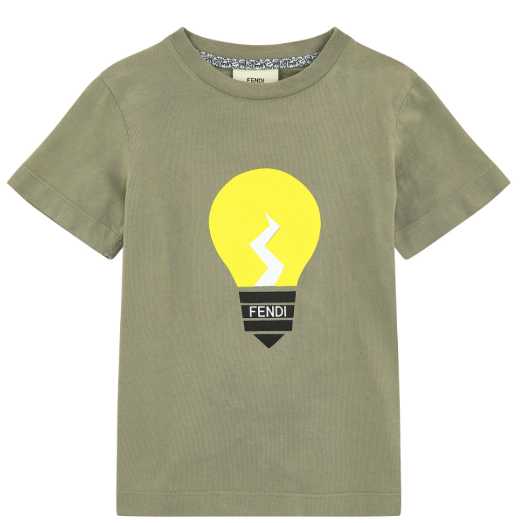 Fendi Boys Bulb T-shirt Boys T-shirts Fendi [Petit_New_York]