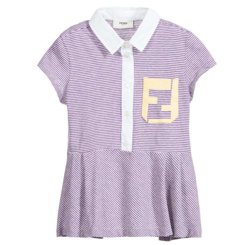 Fendi Girls Striped Purple Top Girls Tops Fendi [Petit_New_York]