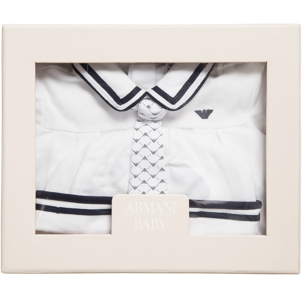 Armani Baby White Romper Gift Set Baby Sets & Suits Armani Junior [Petit_New_York]