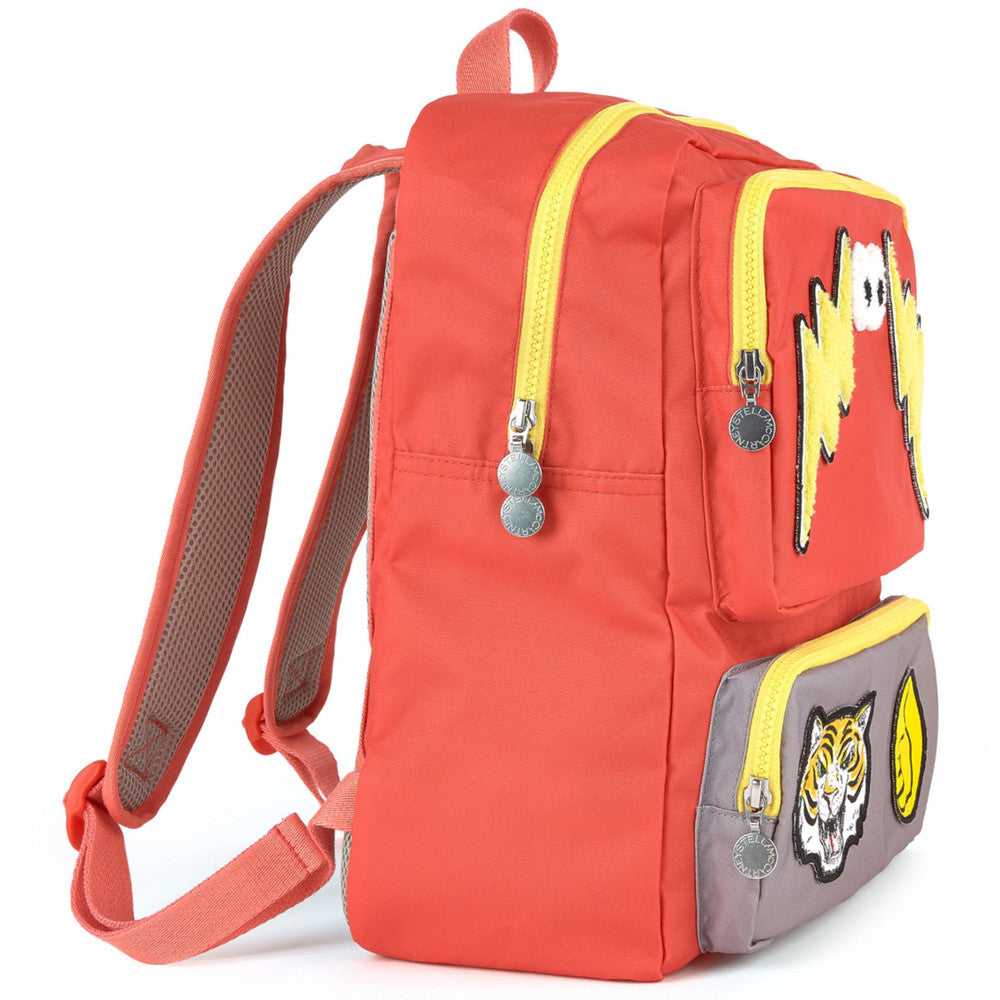 Stella McCartney Red/Yellow Patched Backpack Accessories Stella McCartney Kids [Petit_New_York]