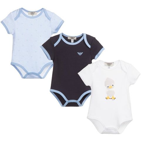 Zadig & Voltaire Baby Blue Romper with Bib Gift Set | New Collection