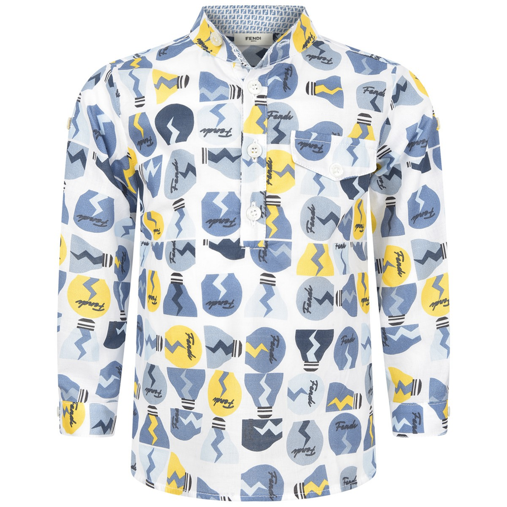 Fendi Baby Boys 'Light Bulbs' Shirt Baby Tops Fendi [Petit_New_York]