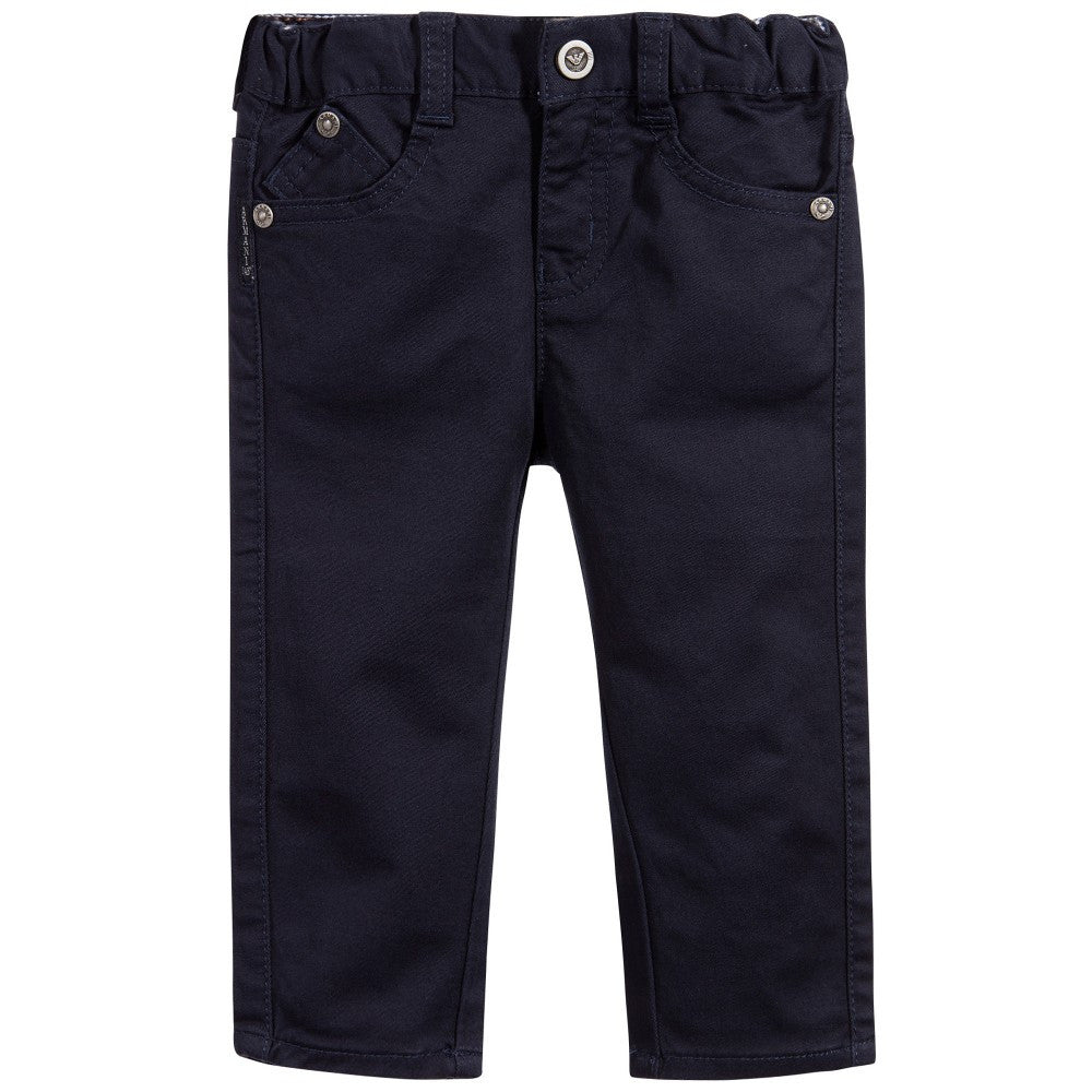 Armani Baby Boys Navy Pants Baby Bottoms Armani Junior [Petit_New_York]