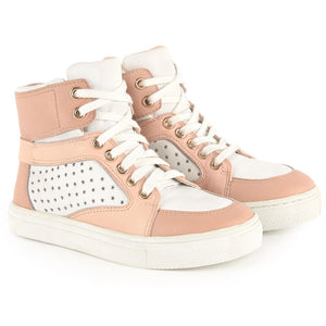 Chloe Girls Pink & White Mini-Me Sneakers Girls Shoes Chloé [Petit_New_York]