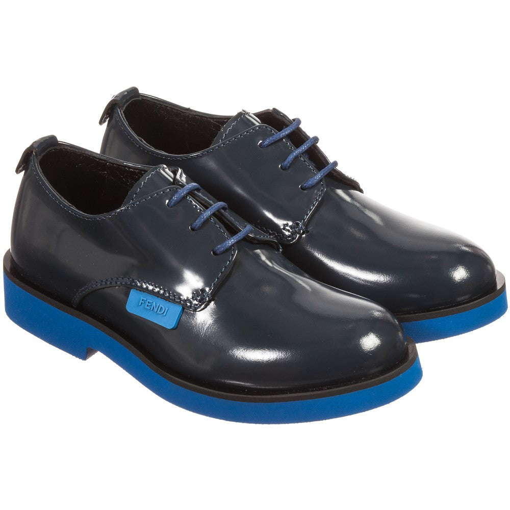 Fendi Boys Navy Fancy Shoes Boys Shoes Fendi [Petit_New_York]