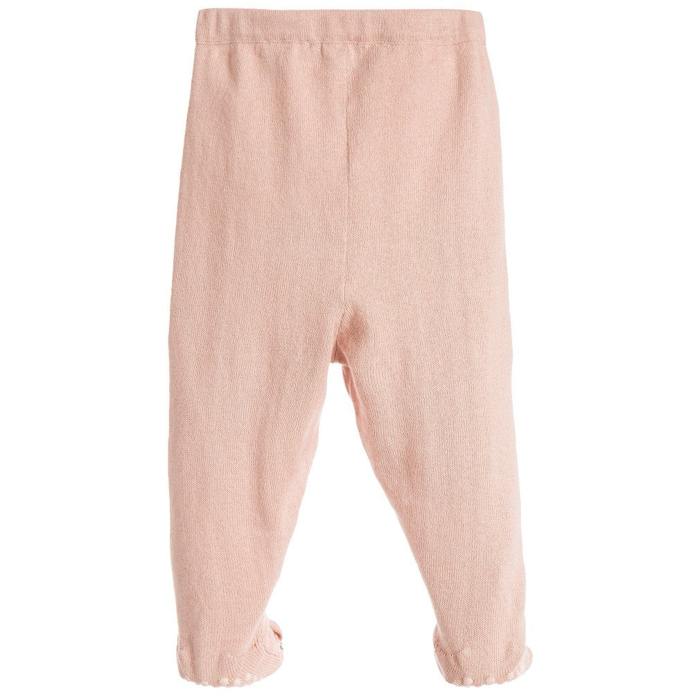 Stella McCartney Baby Girls Pink Cotton/Cashmere Tights Baby Bottoms Stella McCartney Kids [Petit_New_York]
