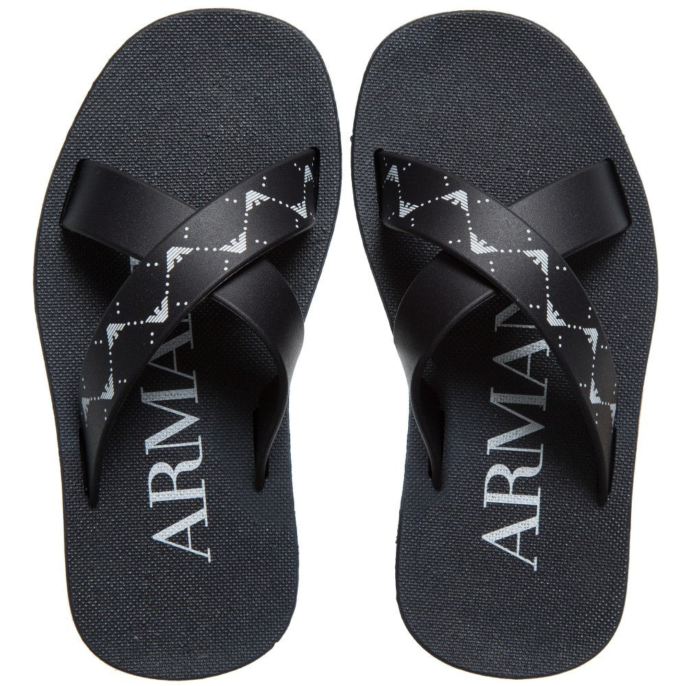 Armani Boys Flip-Flops Boys Shoes Armani Junior [Petit_New_York]