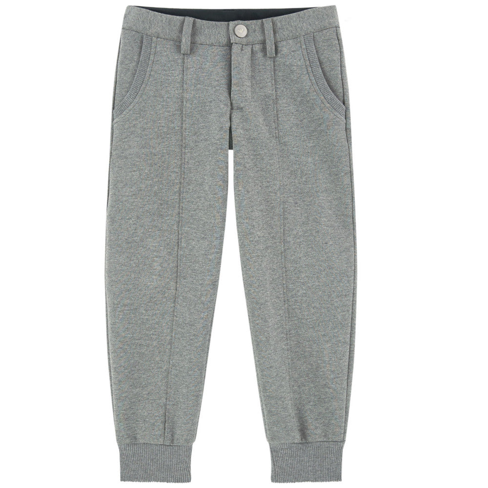 Armani Boys Neoprene Grey Pants Boys Pants Armani Junior [Petit_New_York]