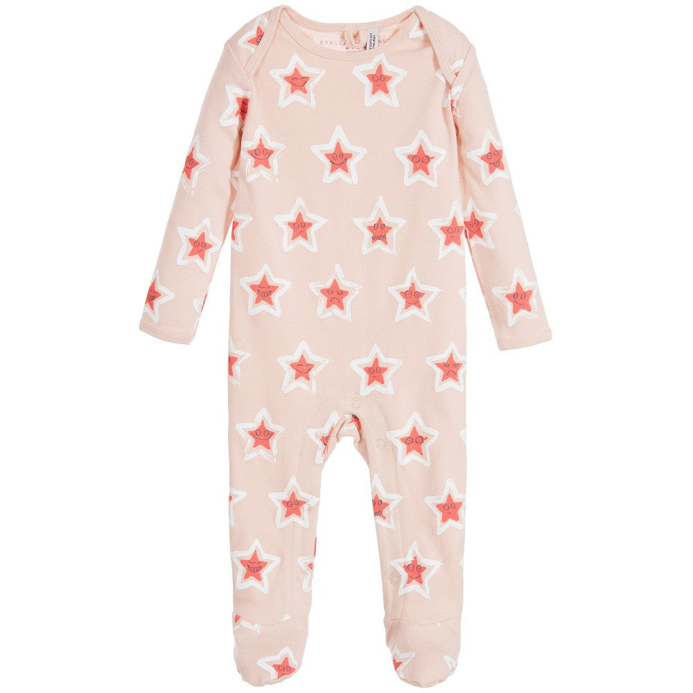 Stella McCartney Baby Girls Pink Stars Onesie Baby Rompers & Onesies Stella McCartney Kids [Petit_New_York]