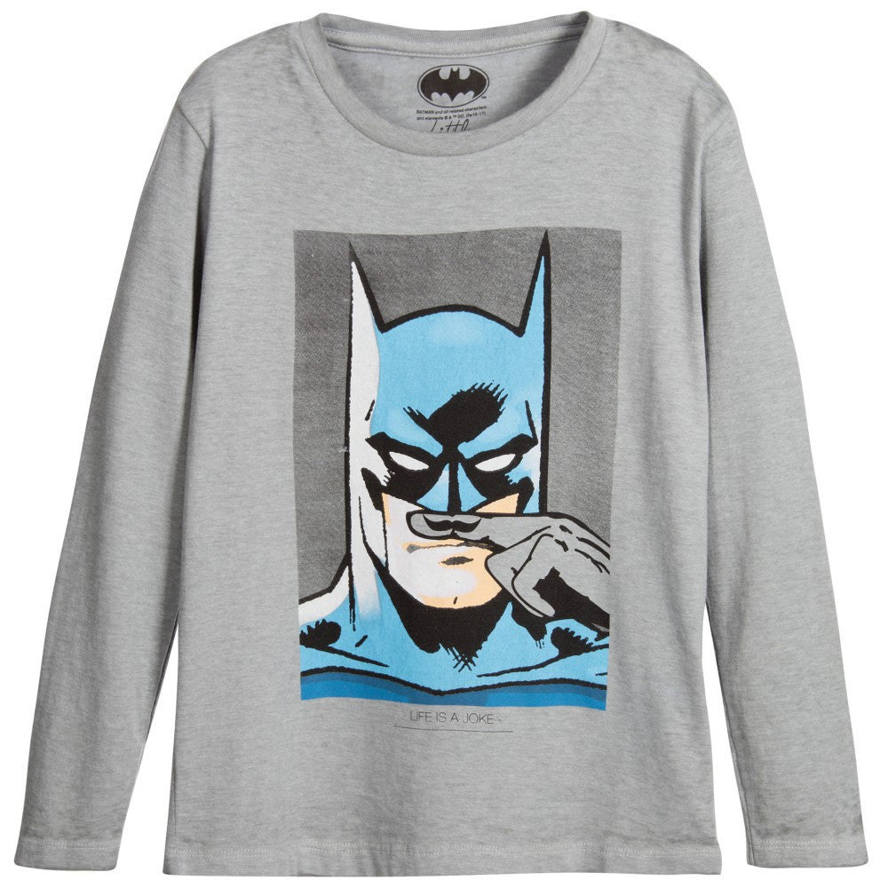 Eleven Paris Boys Batman Long-Sleeved T-shirt Boys T-shirts Little Eleven Paris [Petit_New_York]
