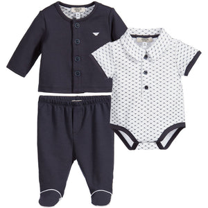 Armani Baby Boys 3-Piece Gift Set Baby Sets & Suits Armani Junior [Petit_New_York]