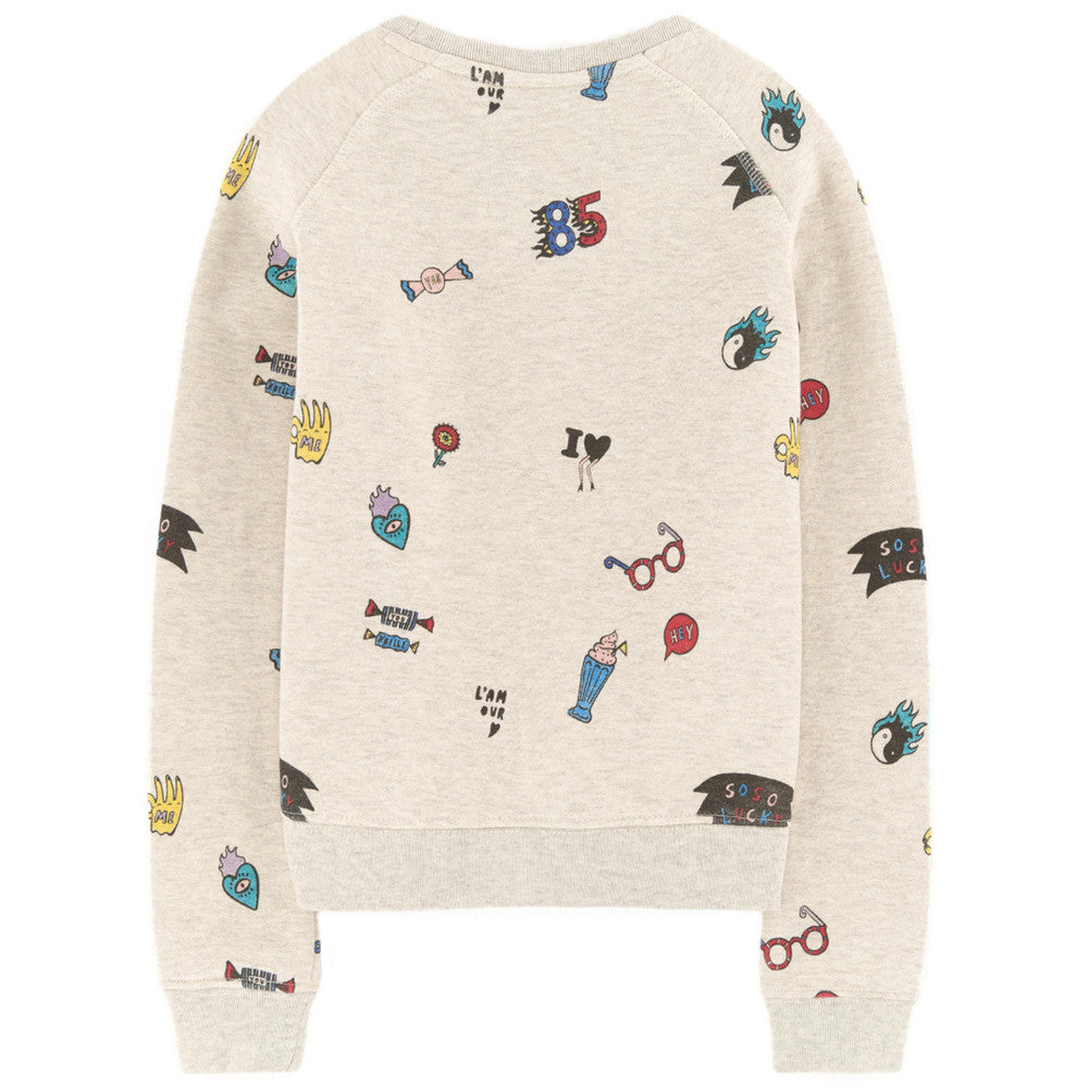 Scotch & Soda Girls Beige Printed Sweatshirt Boys Sweaters & Sweatshirts Scotch Shrunk [Petit_New_York]