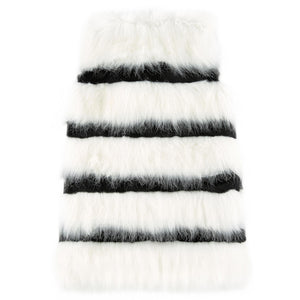 Little Marc Jacobs Striped Fur Vest Girls Jackets & Coats Little Marc Jacobs [Petit_New_York]