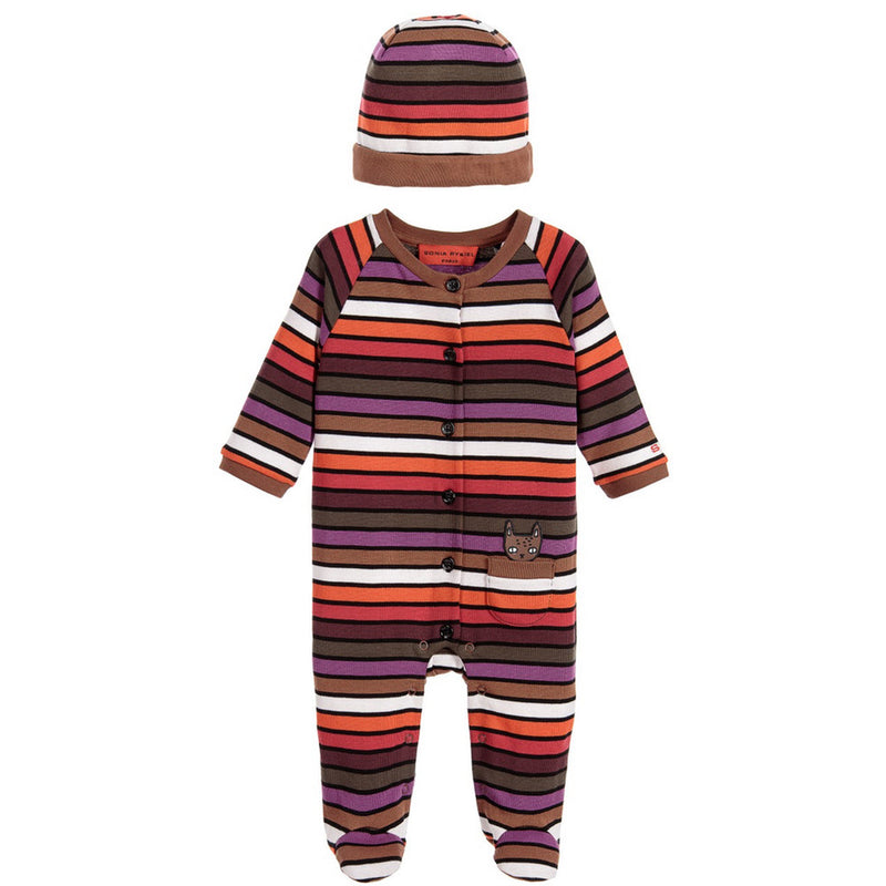 Sonia Rykiel Baby Striped Romper Hat Giftset Baby Sets & Suits Rykiel Enfant [Petit_New_York]