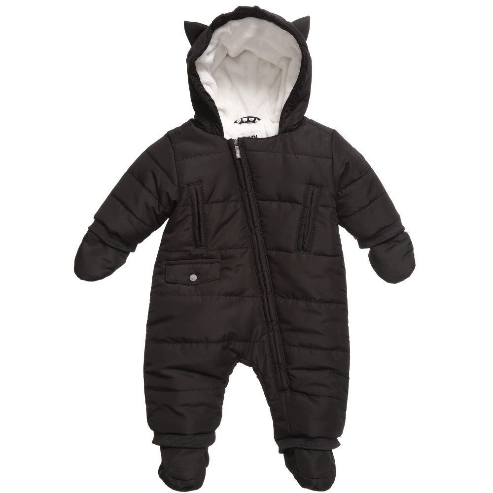 Karl Lagerfeld Baby 'Snowy Kitten' Black Snowsuit Baby Sets & Suits Karl Lagerfeld Kids [Petit_New_York]