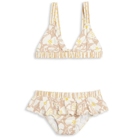 Versace Girls Gold Studded White Swimsuit