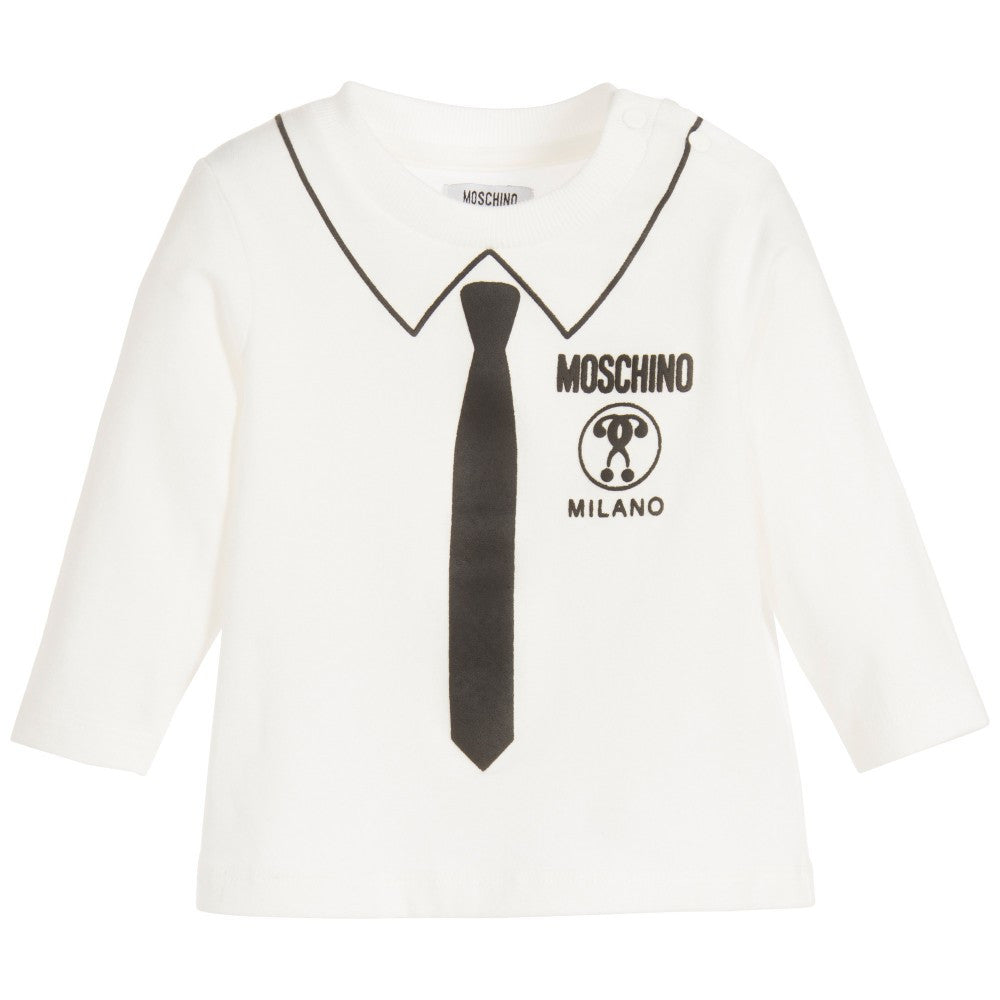 Moschino Baby Boys Ivory Fancy T-shirt Baby Tops Moschino [Petit_New_York]
