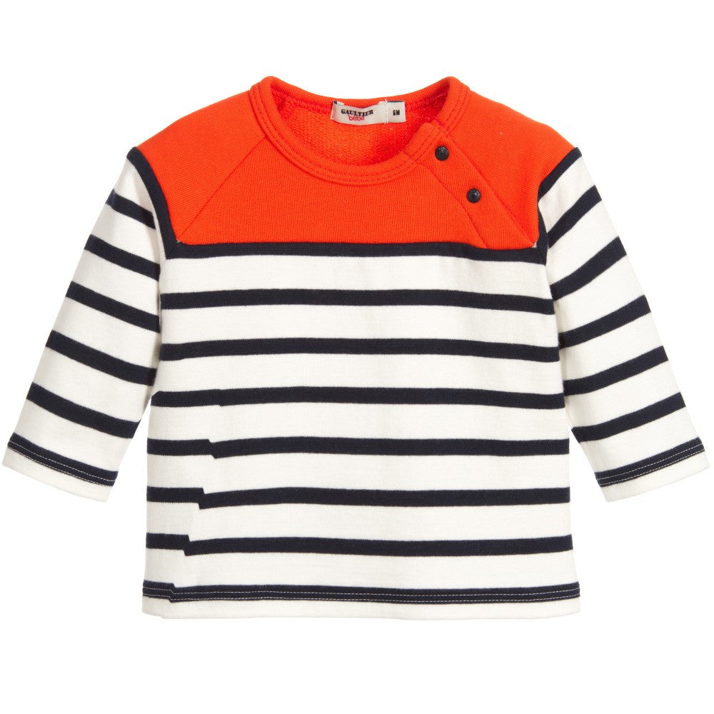Junior Gaultier Baby Boys Colorful Striped Top Baby Tops Junior Gaultier [Petit_New_York]