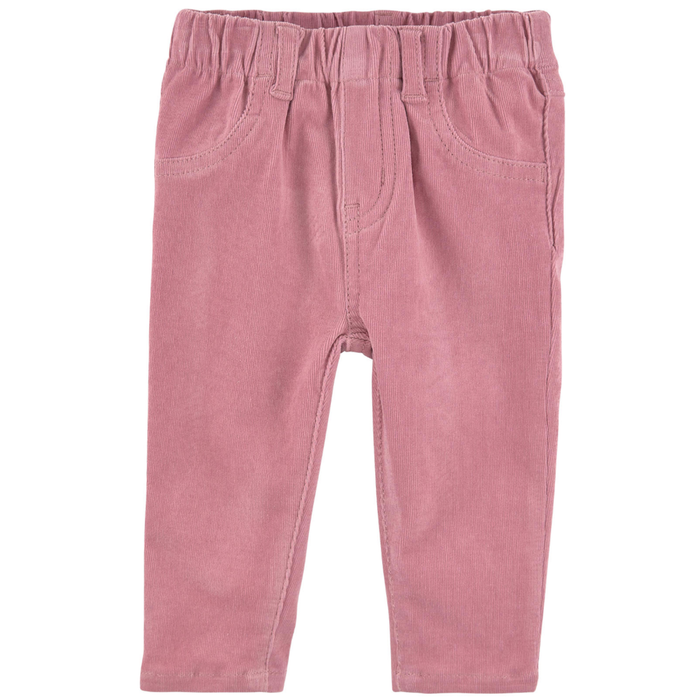 Stella McCartney Baby Girls Ribbed Pink Pants Baby Bottoms Stella McCartney Kids [Petit_New_York]