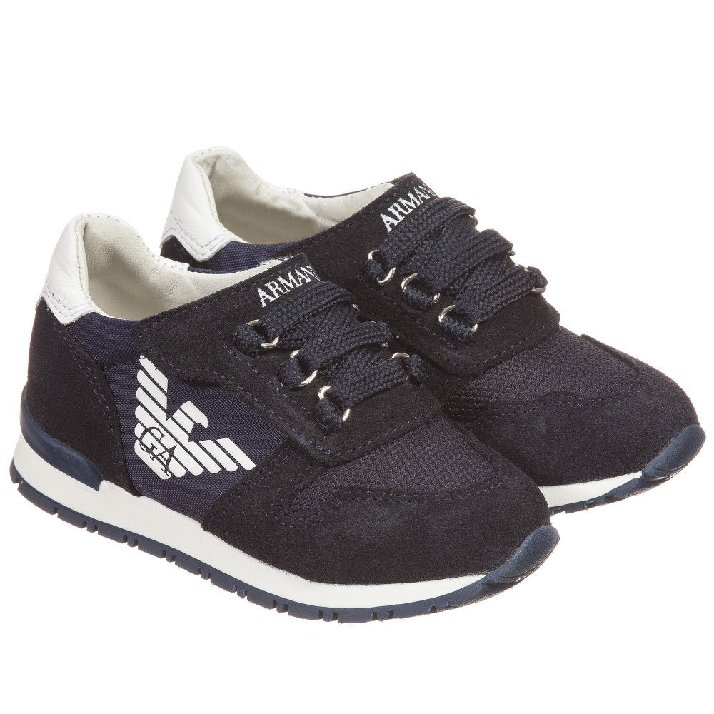 ab332506a Armani Baby Boys Navy Sneakers Baby Shoes Armani Junior  Petit New York