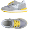 Armani Baby Boys Grey/Yellow Sneakers Baby Shoes Armani Junior [Petit_New_York]