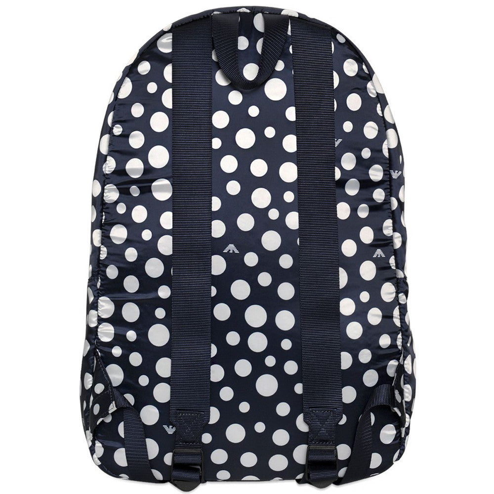 b5a2380c7f11 Armani Navy   White Polka Dot Backpack Accessories Armani Junior   Petit New York