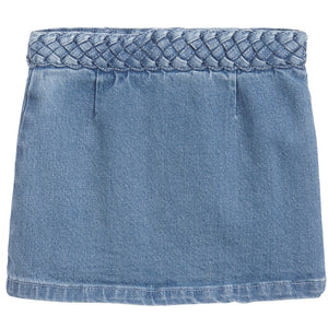 Chloe Girls Braided Denim Skirt Girls Skirts Chloé [Petit_New_York]