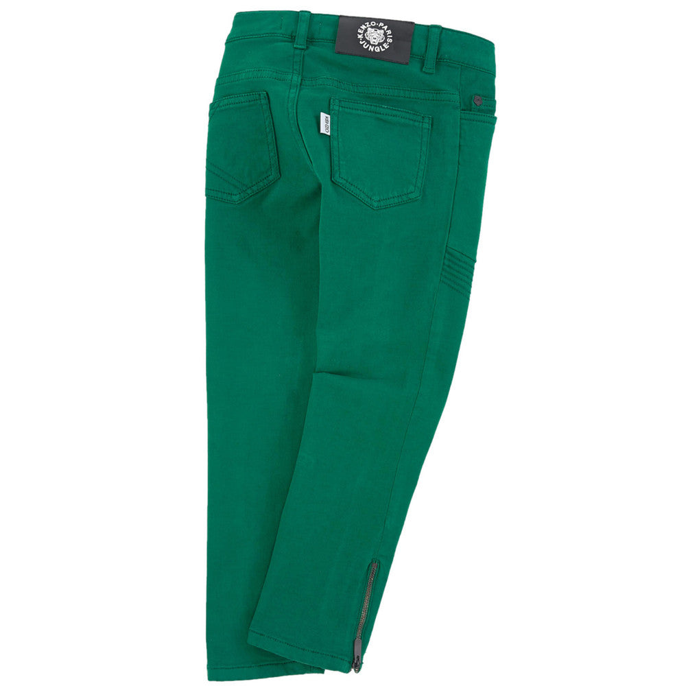 Kenzo Girls Slim Green Pants Girls Pants Kenzo Paris [Petit_New_York]