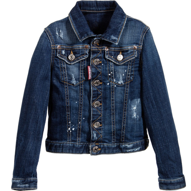 Dsquared2 Boys Denim Jacket Boys Jackets & Coats Dsquared2 [Petit_New_York]