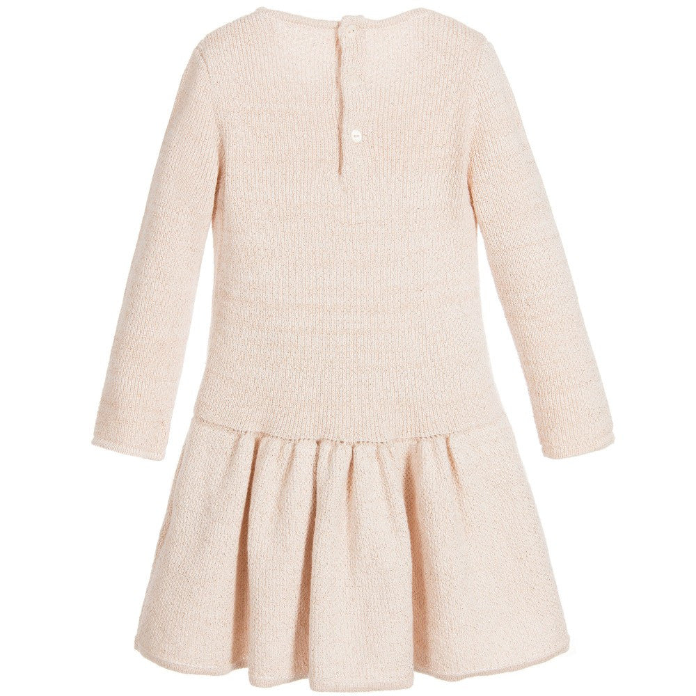 Chloe Baby Girls Rose Pink Knitted Dress Baby Dresses Chloé [Petit_New_York]