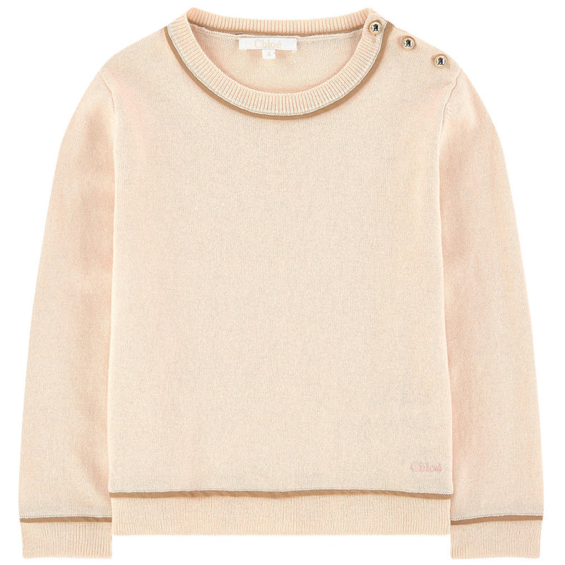 Chloe Girls Wool Blend Mini-Me Sweater Girls Sweaters & Sweatshirts Chloé [Petit_New_York]