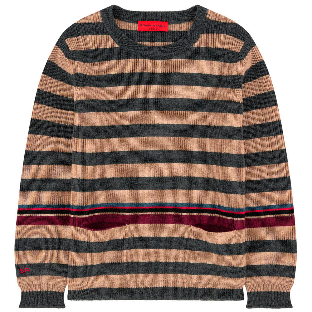Sonia Rykiel Girls Striped Wool Sweater Girls Sweaters & Sweatshirts Rykiel Enfant [Petit_New_York]