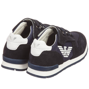 Armani Baby Boys Navy Sneakers Baby Shoes Armani Junior [Petit_New_York]