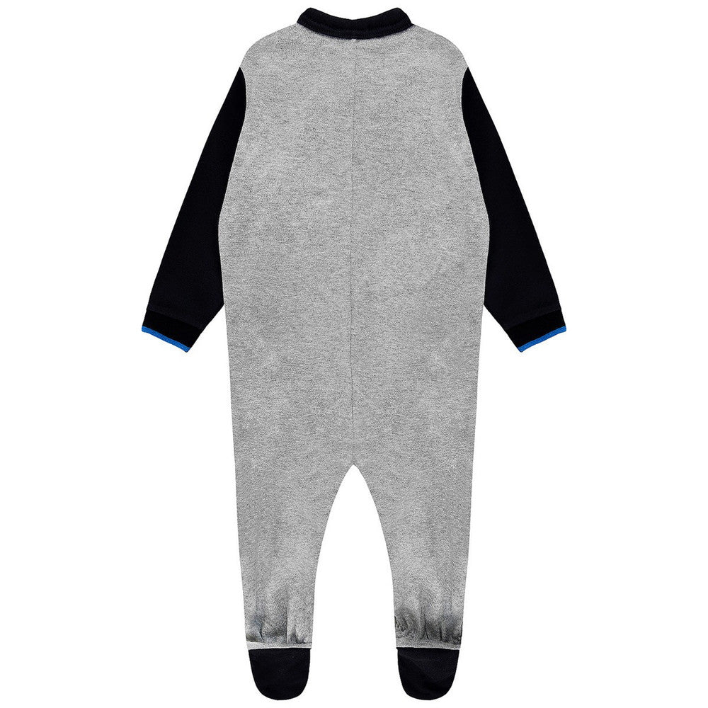 Armani Baby Boys Grey & Navy Onesie Baby Rompers & Onesies Armani Junior [Petit_New_York]