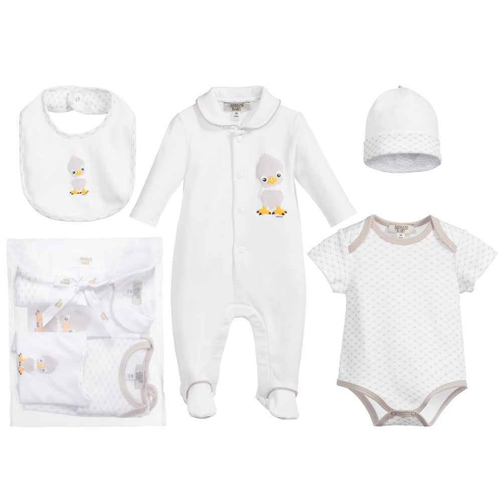 Armani Baby 4-piece Gift Set Baby Rompers   Onesies Armani Junior   Petit New York  8b4dbee51