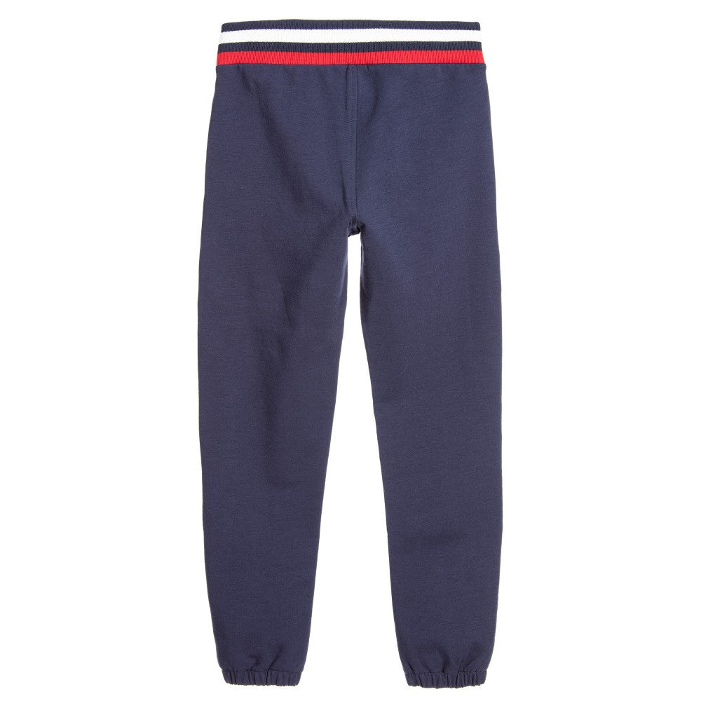 Moschino Boys Navy Sweatpants Boys Pants Moschino [Petit_New_York]