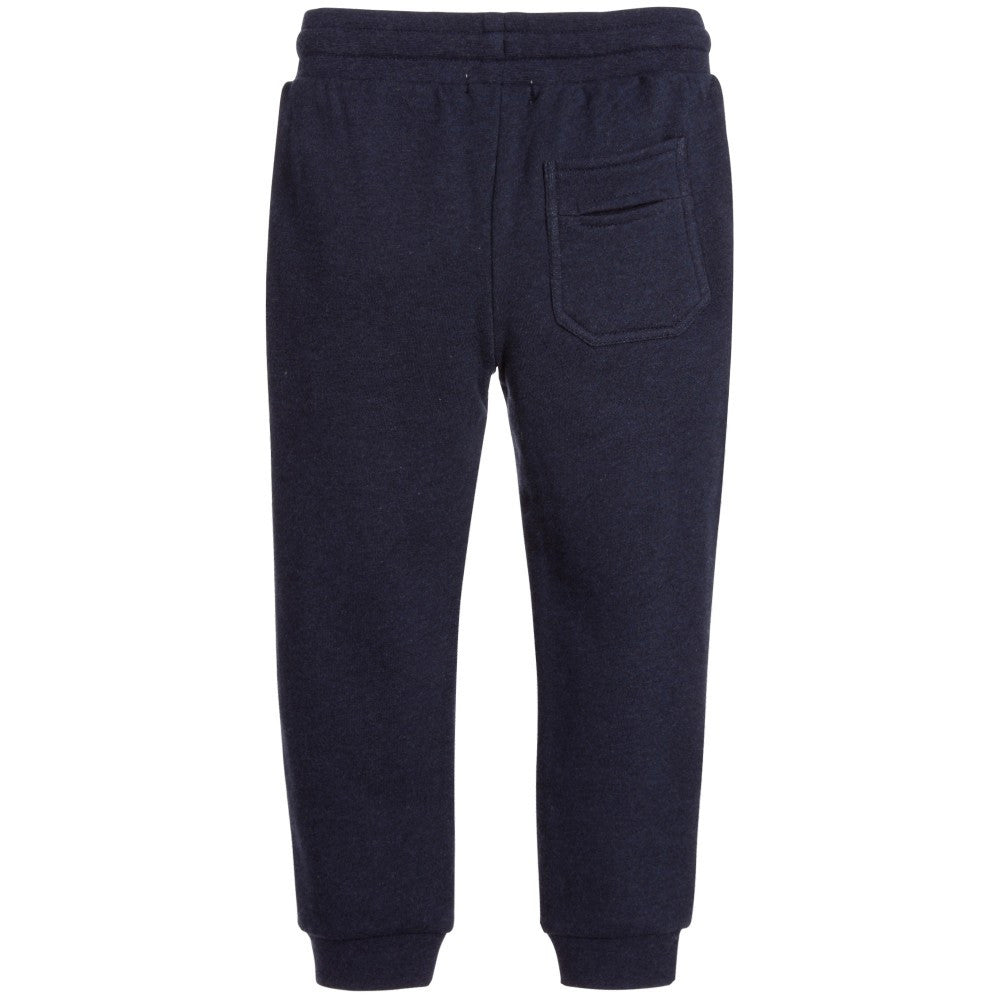 Stella McCartney Boys Navy Blue Sweatpants Boys Pants Stella McCartney Kids [Petit_New_York]