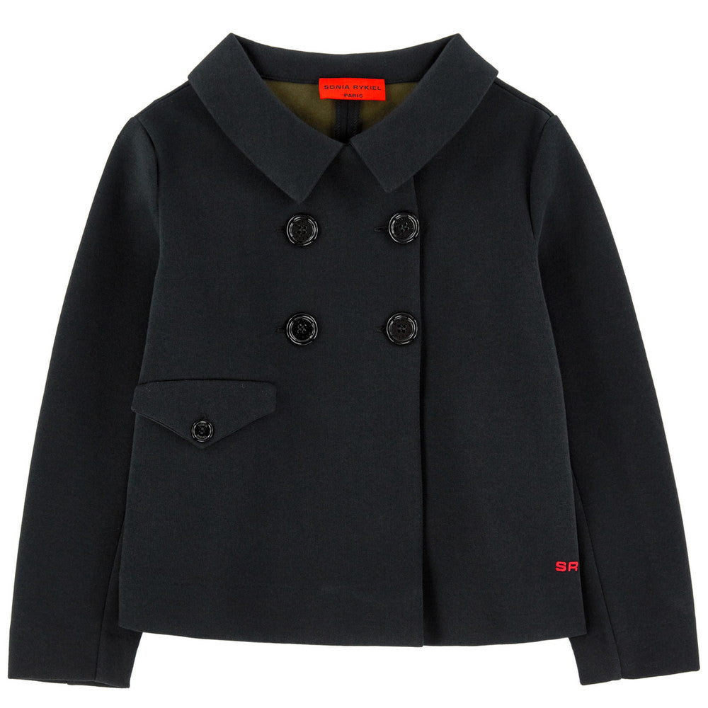 Sonia Rykiel Girls Black Neoprene Jacket Girls Jackets & Coats Rykiel Enfant [Petit_New_York]