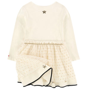 Sonia Rykiel Girls Ivory Fancy Multi-Fabric Dress Girls Dresses Rykiel Enfant [Petit_New_York]