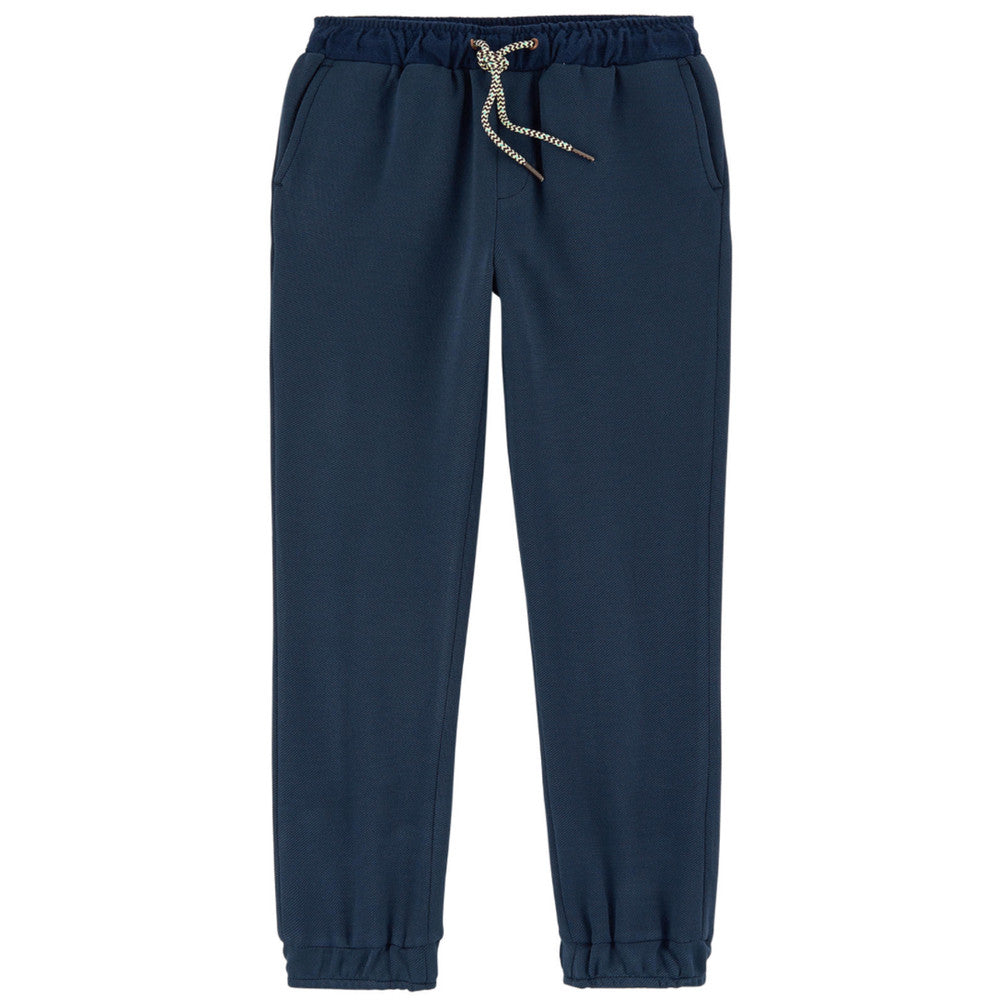 Scotch & Soda Navy Wool Sweatpants Boys Pants Scotch Shrunk [Petit_New_York]