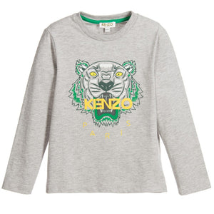 27dd8a268159 Kenzo Boys Grey Tiger T-shirt Boys T-shirts Kenzo Paris [Petit_New_York]