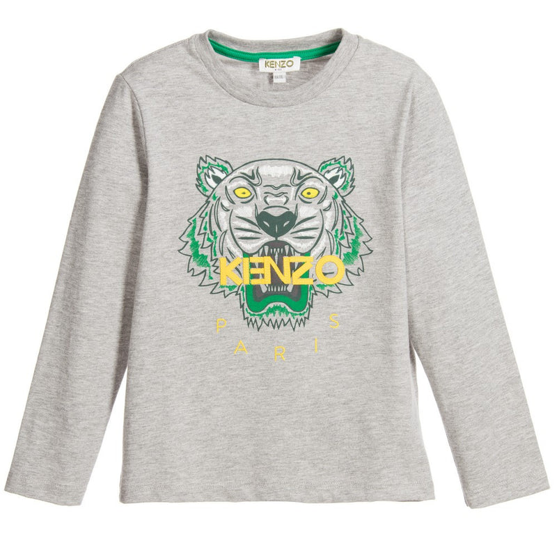 Kenzo Boys Grey Tiger T-shirt Boys T-shirts Kenzo Paris [Petit_New_York]