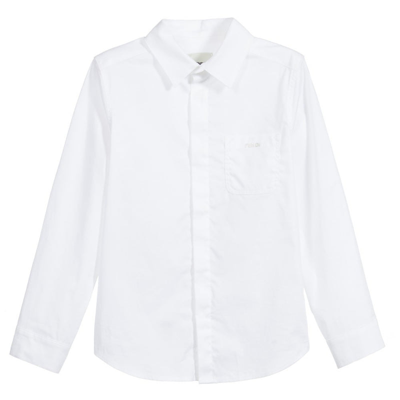 Fendi Boys Button-Down Shirt Boys Shirts Fendi [Petit_New_York]